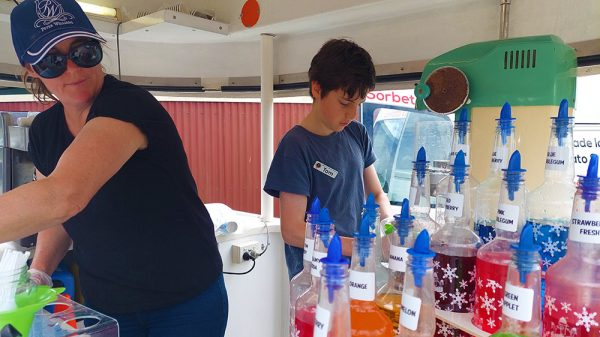 shaved ice is cool and refreshing for sunshine coast summer events