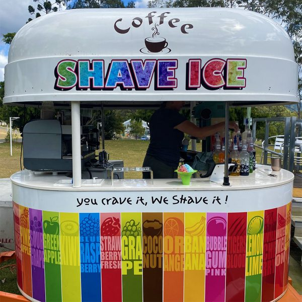 sunshine coast shaved ice van for all sporting events special occasions and childrens birthday parties